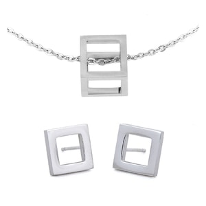 Cube Silver Set